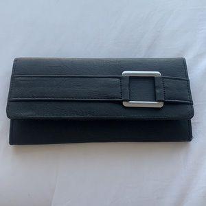 Black Foldover Wallet